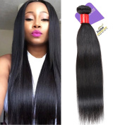 Ivalue Brazilian Straight Hair 100% Unprocessed Virgin Human Hair Weft Nature Colour 1 Bundle