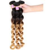 Beauty Youth Hair Grade 7A Human Hair Extensions Loose Wave Malaysian Virgin Hair 100% Unprocessed Loose Wave Hair 1B/27 Mixed Length