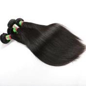 Xuchang Eecamail Brazilian Silky Straight , Virgin Human Hair Extensions Straight Hair Natural Colour Brazilian Hair Weave 7 Bundles 8 Bundles 9 Bundles 95-100g/Bundle