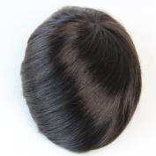 Human Hair 7x9 Swiss Lace Base Men's Toupee Hair Piece Hair System