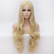 Flovex Women Long Wavy Cosplay Wigs Ladies Sexy Natural Costume Club Party Daily Hair with Wig Cap