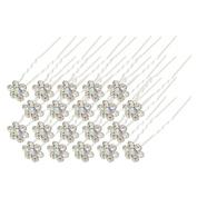 40Pcs Bridal Wedding Crystal Hair Pins Bridal Prom Clips White