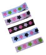 Girls Sweet and Simple No Slip Alligator Hair Clip Set By Funny Girl Designs - Stars Pattern
