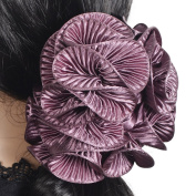 Handmade large claw clip chiffon flower hair partywedding hair claw clamp