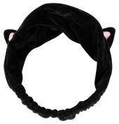JPNK Soft Face Washing Elastic Bow Towel Headbands Beauty Tool Hair Band