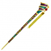 YOY Fashion Hair Decor Chinese Traditional Style Hair Sticks Shawl Pins Picks Pics Forks for Women Girls Hair Accessory 16cm with Enamel Flower, Purple