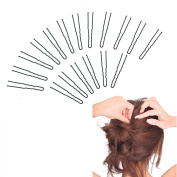 GEOOT Black Hair Pin Crink U Shaped 6.4cm