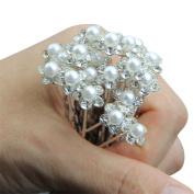 cupstrip HOT 20pcs Wedding Bridal Pearl Flower Crystal Hair Pins Clips Bridesmaid