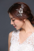 HailieStudio Women's Handmade Bridal Rhinestone Crystals Pearls Hair Comb
