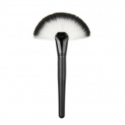 KeyZone Fan Shape Makeup Large Fan Blush Face Powder Foundation Brush for Lady
