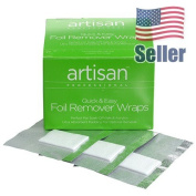 Artisan Nail Foil Remover Wraps | Thicker - Bigger - Stronger Absorbent - 100 pcs