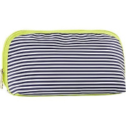 Trina Blue White Stripes Soak Up the Rays Medium Clutch Cosmetic Bag Organiser
