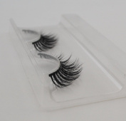 Handmade Luxurious 100% Real Mink Natural Long Cross False Eyelashes Fake Eye Lashes Makeup