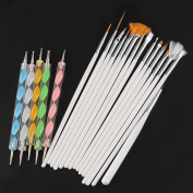 20pcs Nail Art Tips Design Dotting Painting Drawing Polish manicures Pen Brush Tools Kit