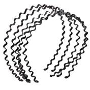 LEFV™ 10Pcs Wavy Metal Hairband Hair Hoop Head Band Hairdressing Hairhoop Ornament Decor Headband, Black