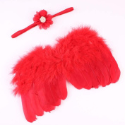 FEITONG(TM) New Infant Newborn Baby Kids Angel Fairy Feather Wing Costume Photo Prop