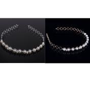 Eforstore 2Pcs Trendy Sweet Pearl Headband Hairband Diamante Hairhoop Hair Clasp