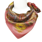 Wrapables® Luxurious 100% Charmeuse Silk Square Scarf, Floral Paisley Motif