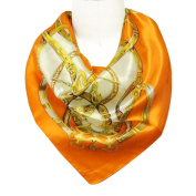 Wrapables® Luxurious 100% Charmeuse Silk Square Scarf, Seal of Fashion