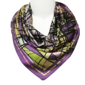 Wrapables® Luxurious 100% Charmeuse Silk Square Scarf, Contemporary Orchid