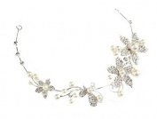 Geoot Bridal headdress diamond crystal pearl flower