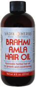 Brahmi-Amla Oil, 470ml (no mineral oil)-herbal hair growth massage oil ~ New larger size !