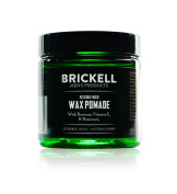 Brickell Men's Flexible Hold Wax Pomade