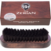 100% Boar Bristle Beard Brush for Men- Firm Bristle - Comb Beards & Moustache & Hair