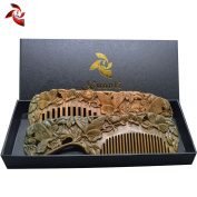 Xuanli® 2 pcs Natural SandalWood Comb Hair Care Anti Static Wooden Hair Massage Natural Brush Beard Comb