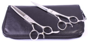 1set Hairdressing Scissors & Thinner Hair Cutting Shears Right-handed