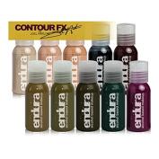 European Body Art Makeup Airbrush Face Body Painting Stencils, Endura Contour FX by Joel Harlow 10 Pack 15ml