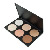 EUBUY Professional 6 Colours Foundation Makeup Palette Contour Face Power Concealer Camouflage Makeup Blusher Palette by EUBUY