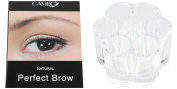 Cameo Cosmetics Perfect Brow Natural Brown Eyebrows with Clear Acrylic Flower Cosmetic Organiser