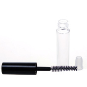 4.5ml Reusable Empty Bottle Tube With Plug for Eyelash Growth Oil /Mascara with Brush for Home and Travel Pack of 5pcs