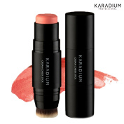 [KARADIUM] Natural Daily Colour Cream Cheek Stick with Micro Fibres Blending Brush - 4 Colours