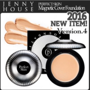 Jennyhouse 2016 New Version 4 PERFECT SKIN Magnetic Cover Foundation SPF50+/PA+++ Colour #21/#23/w Magnetic Puff/Korea Cosmetic
