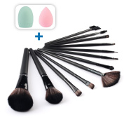 Makeup Brushes Set Premium Synthetic Professional 12pcs Brush Set Foundation Blending Blush Kit