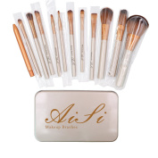 Aisa® Makeup Brushes Premium Cosmetics Brush Set Synthetic Kabuki Makeup Brush Foundation Blending Blush Eyeliner Face Powder Brush Kit