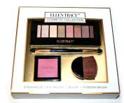 Ellen Tracy Cosmetic Collection - Eyeshadow Palette, Blush, Eye Brush and Powder Brush.