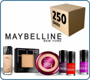 (Lot of 250 pcs) Maybelline New York Cosmetics Wholesale Liquidation Mixed Box