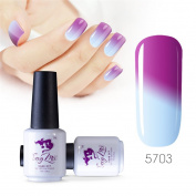 Sexy mix 7ml Temperature Colour Changing Nail Gel Polish Soak Off UV LED Salon Beauty Art DIY 5703