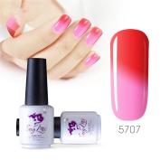 Sexy mix 7ml Temperature Colour Changing Nail Gel Polish Soak Off UV LED Salon Beauty Art DIY 5707