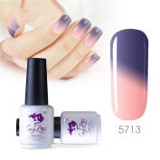 Sexy mix 7ml Temperature Colour Changing Nail Gel Polish Soak Off UV LED Salon Beauty Art DIY 5713