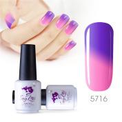 Sexy mix 7ml Temperature Colour Changing Nail Gel Polish Soak Off UV LED Salon Beauty Art DIY 5716