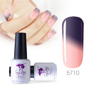 Sexy mix 7ml Temperature Colour Changing Nail Gel Polish Soak Off UV LED Salon Beauty Art DIY 5710