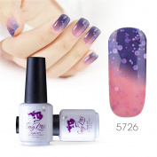 Sexy mix 7ml Temperature Colour Changing Nail Gel Polish Soak Off UV LED Salon Beauty Art DIY 5726