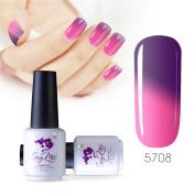 Sexy mix 7ml Temperature Colour Changing Nail Gel Polish Soak Off UV LED Salon Beauty Art DIY 5708