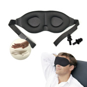 Travelmall 3D Stereoscopic sleep mask memory foam sleep goggle Soft eye mask for Travelling, Nap, Mediation or Yoga with Nose Wing at Home Hotel Plane