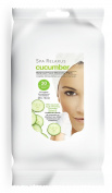 Spa Relaxus Cucumber Botanical Facial Cleansing Wipes. 30 Pre-moistened Wipes