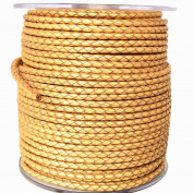 DIRCO 3mm Dia. Genuine Braided Leather Cords For Bracelet Necklace Jewellery Making Woven Leather 30 Metres Per Roll